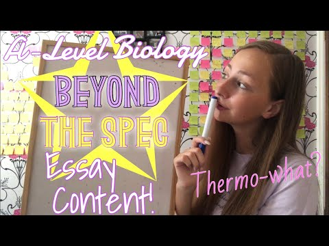 How to get full marks in an A-Level Biology Essay   A*   Beyond the Spec Content   Revision