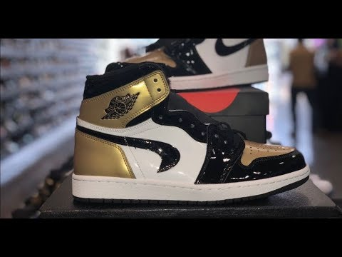 $100,000+ AIR JORDAN 1 GOLD TOE UPSIDE DOWN SWOOSH RETRO ON EBAY