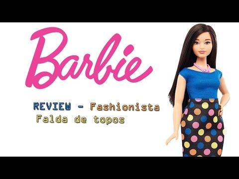 Barbie REVIEW- Fashionista Curvy FALDA DE TOPOS