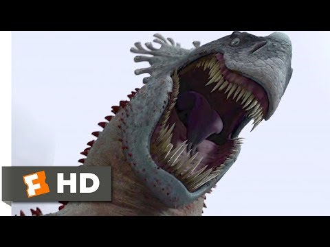 How to Train Your Dragon (2010) - The Red Death Dragon Scene (8/10) | Movieclips