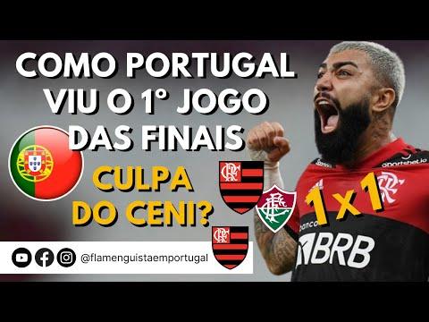 O EMPATE DO MENGÃO, VISTO PELOS PORTUGUESES, NO 1º JOGO DAS