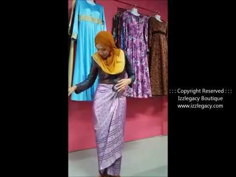 How to Wear Songket Pareo with Buckle
