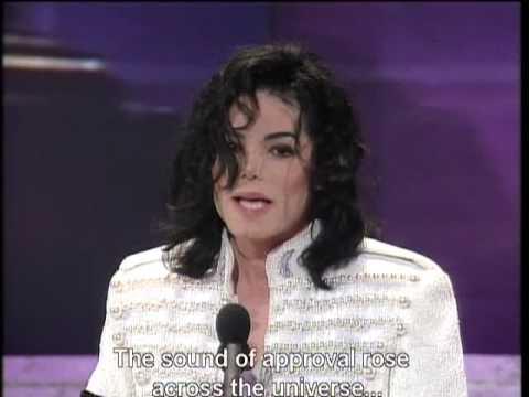 Michael Jackson ~ Speech about helping the world