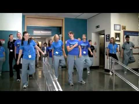 Flash Mob At Sunnybrook Hospital - National Physiotherapy Month