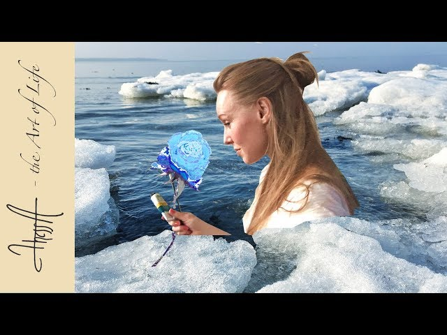 Painting an ice rose - tutorial