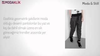 2012 Sonbahar Trendi Desenli Pantolonlar