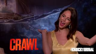 Kaya Scodelario & Alexandre Aja Talk New Movie 'Crawl'