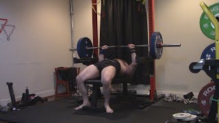 Close Grip Dead Pin Bench 275, 295 & 315 (MISS & MISS) - Triceps Gave Out On Both Attempts Today