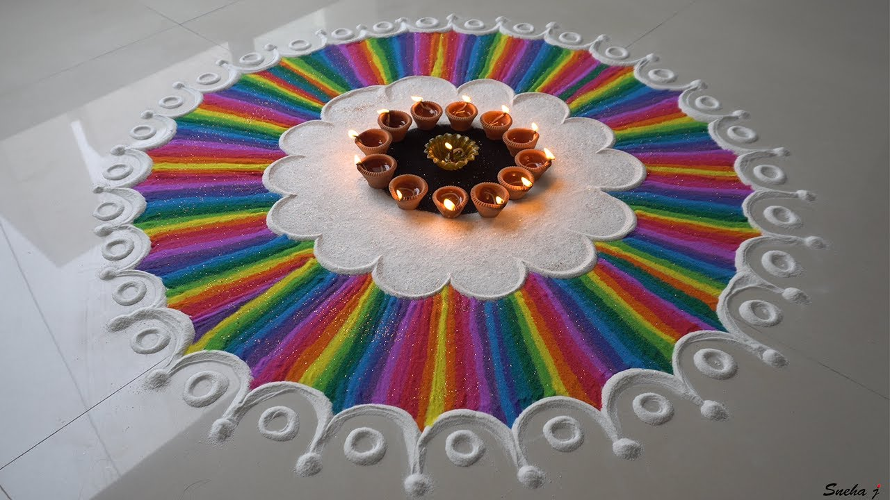 Image result for How to make easy & simple beautiful/unique rangoli designs Ep.20
