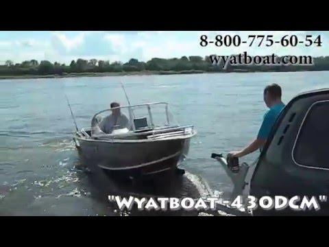 Алюминиевая моторная лодка Wyatboat 430DCM Вятбот с мотором Mercury F30 ELPT EFI