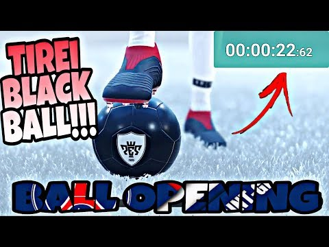 BALL OPENING TIREI BLACK BALL TOP DO PSG EM PES 2018 MÓBILE - 동영상