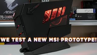 MSI Aegis 3 8th system - PROTOTYPE tested!