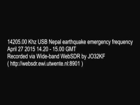 14205.00 Khz USB Nepal earthquake emergency frequency April 27 2015 14.20 - 15.00 GMT