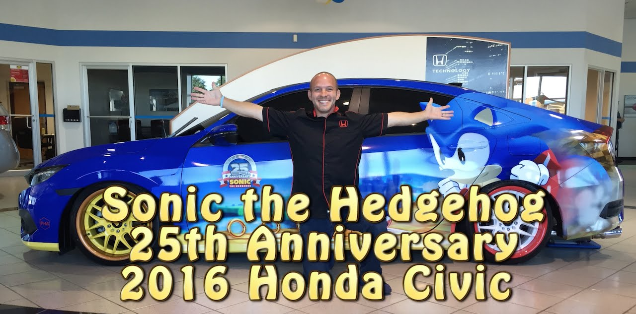 The Worlds Only Sonic The Hedgehog 2016 Honda Civic 1st Look Youtube
