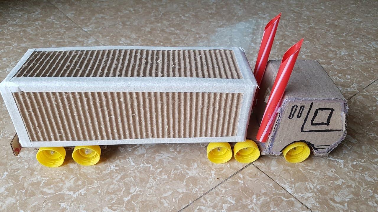 C mo hacer el carro de contenedores de cart n youtube for Carritos con ruedas para cocina