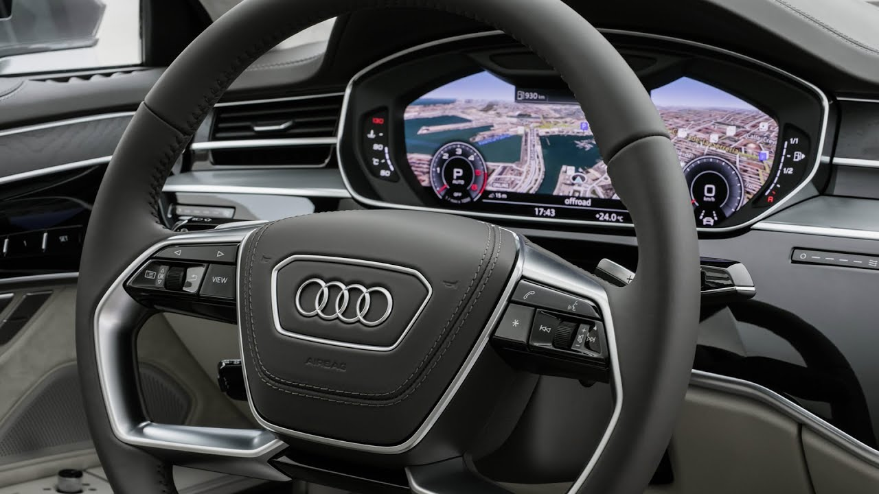 audi a8 new virtual cockpit 1001cars youtube. Black Bedroom Furniture Sets. Home Design Ideas