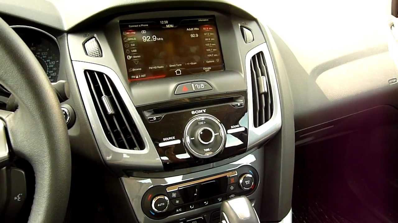 2012 ford focus sony premium audio system 10 speaker. Black Bedroom Furniture Sets. Home Design Ideas