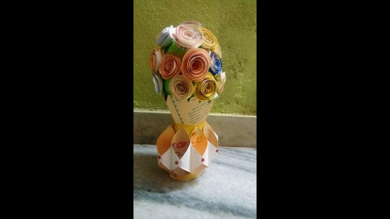 Best Use Of Old Marriage Handmade Flower Vase Decoration