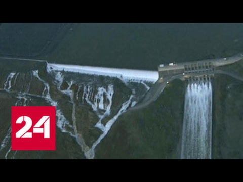 В США рушится самая высокая плотина. Обьявлена массовая эвакуация - Видео онлайн