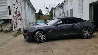 Female Camaro SS on 22s @specialvehiclescustoms