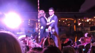 Jordan Knight dancing with argentinian blockhead [NKOTB cruise 2014- Masquerade Night]