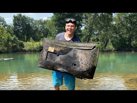 Found Tons of Electronics Underwater in River After Huge Flash Flood
