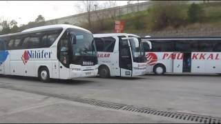 Esenler Istanbul bus station Turkey Mercedes benz,Man Fortuna,Travego,Setra,and Temsa