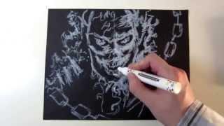 Speed Drawing Ghost Rider - Marvel Johnny Blaze
