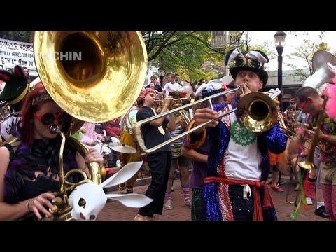 6 Oct 2012 HONK! - Environmental Encroachment - Davis Square - performing circus band