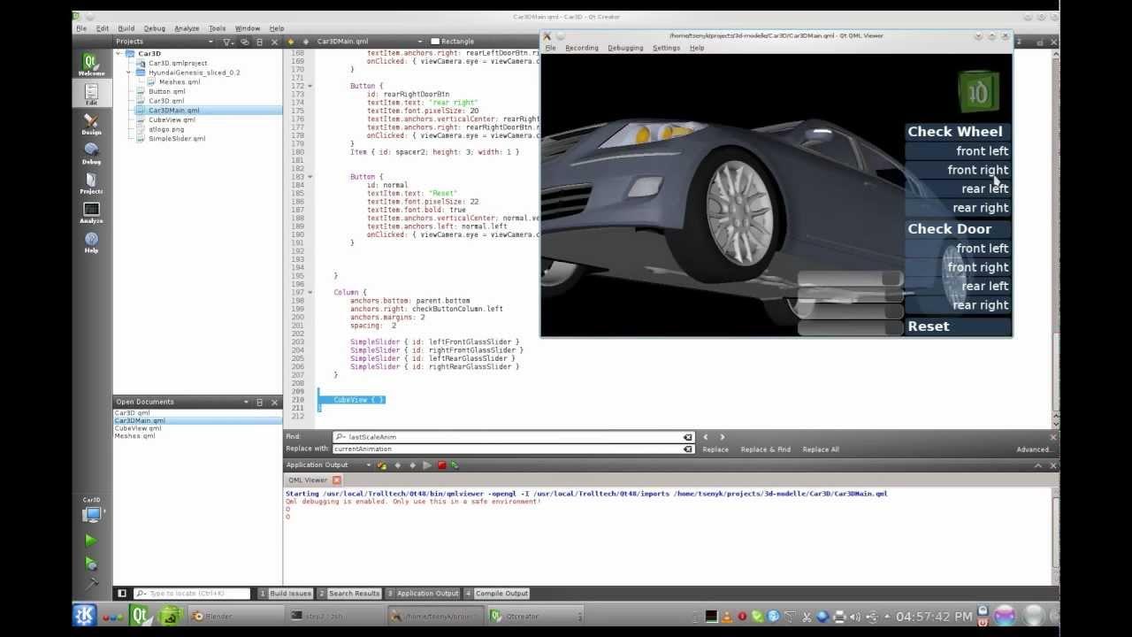 QtQuick3D Tutorial - Car3D
