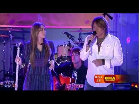 Miley Cyrus & Billy Ray Cyrus  Butterfly Fly Away  Good Morning America 2009