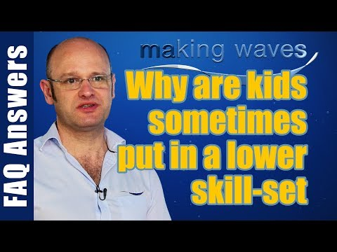 Making Waves Swimming East Kilbride Glasgow - Why children are sometimes put in a lower skill set