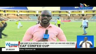 Gor Mahia carry a slim advantage after 2-1 first leg win over New Stars