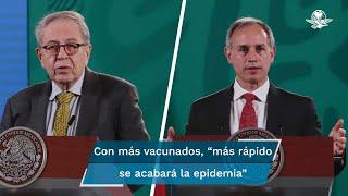 """Mientras, Hugo López-Gatell celebró que el país vive un proceso """"muy alentador"""" con respecto a la pandemia por Covid-19"""