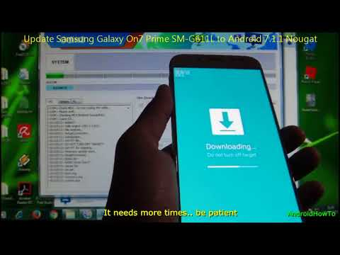 Update Samsung Galaxy On7 Prime SM-G611L to Android 7.1.1 Nougat