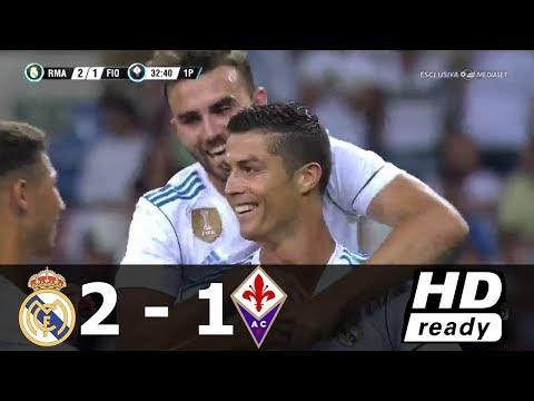 Real Madrid vs Fiorentina 2-1 (Trofeo Santiago Bernabeu ) Resumen Goles 23/08/2017