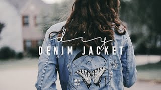 (diy) painted denim jacket