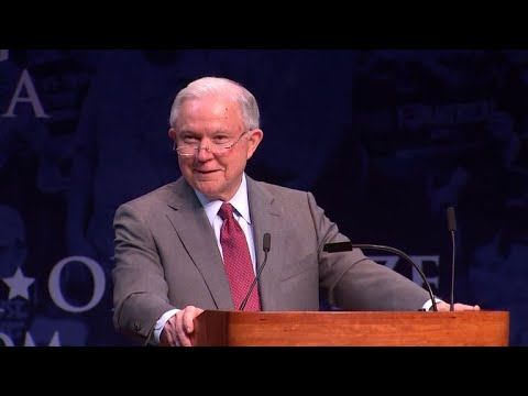 """Sessions talks """"snowflakes"""" as students chant """"lock her up'"""""""