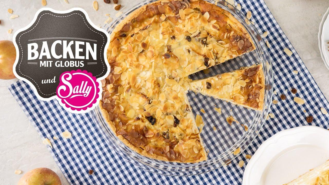 Apfel Schmand Kuchen Backen Mit Globus Sallys Welt 13 Youtube