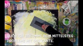 Abstraktes Bild, Untergrund, Acryl, Teil 1, Spachtel-Technik, malen, Anfänger geeignet