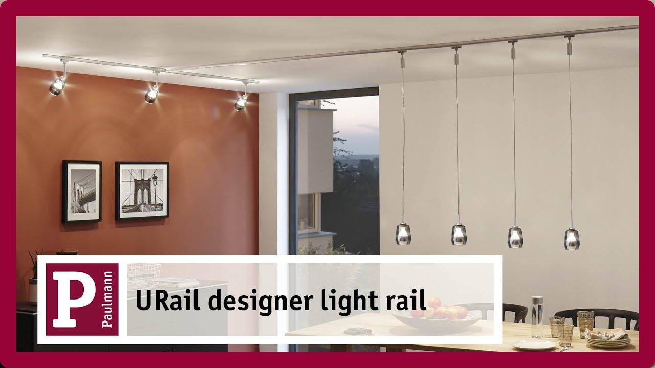 Lighting Rail Nero AC 1000 W Paulmann URail Lighting Rail URail Metallo
