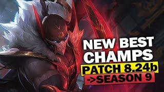 New Best Champions for Season 9 and Patch 8.24b for Climbing in EVERY ROLE