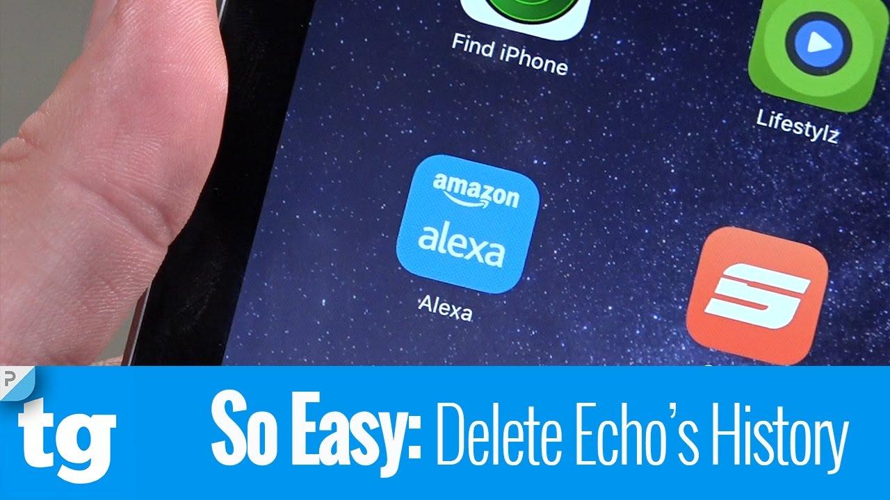 how to delete history on alexa