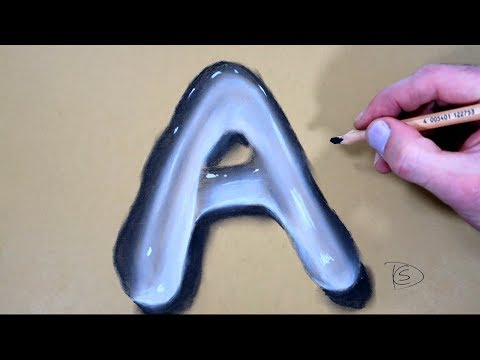 how-to-draw-a-letter-a-in-water-with-dry-pastel-pencils