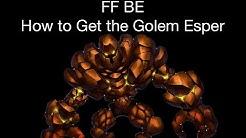 FFBE - How to Get the Golem Esper