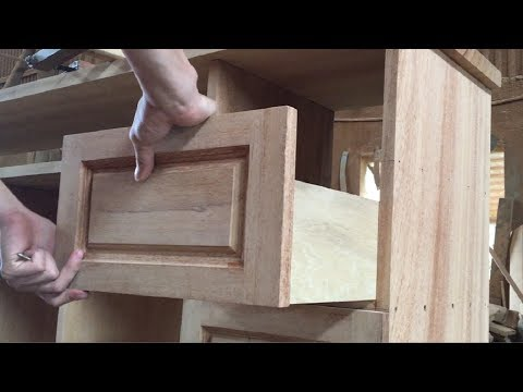 Amazing Woodworking Skills Smart - How To Build Hardwood Drawers Cabinets With Creative Style