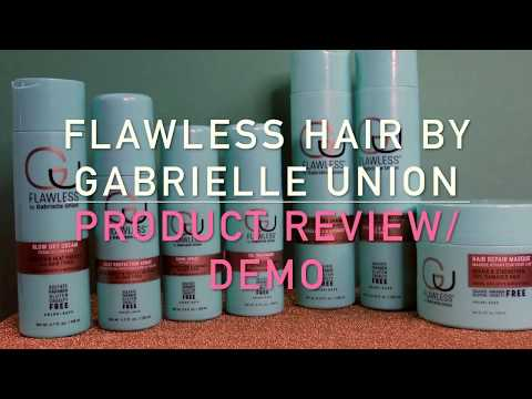 Flawless Hair by Gabrielle Union Review and Demo