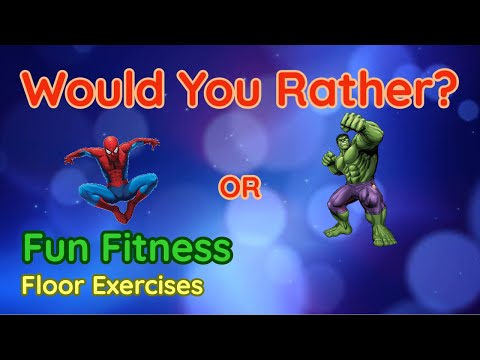 Would You Rather? WORKOUT! At Home Fun Fitness Activity for Family and Kids Physical Education