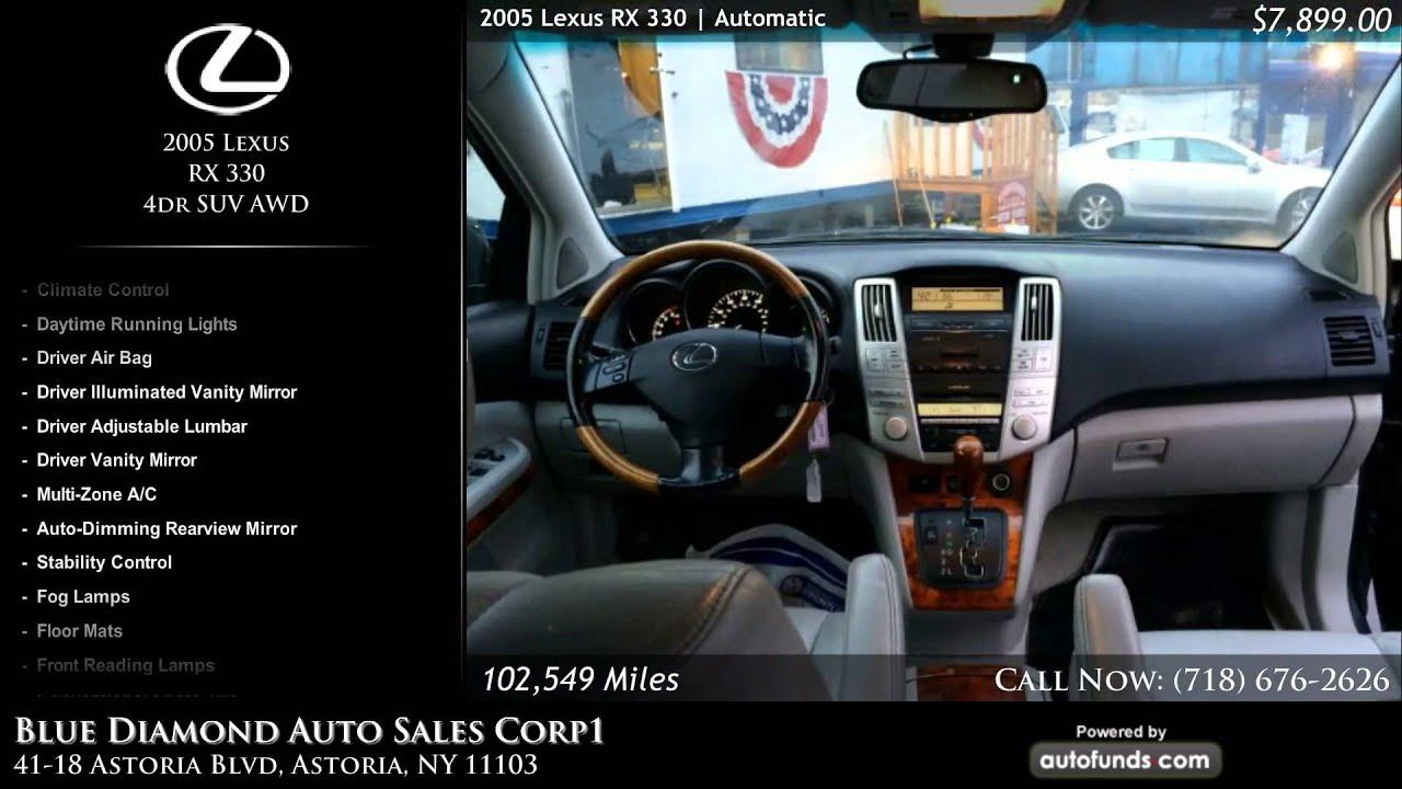 Used 2005 Lexus Rx 330 Blue Diamond Auto Sales Corp1 Astoria Ny Rx330 Sold