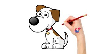 Learning How To Draw Animals For Toddlers Dog - Puzzle Kid Drawing